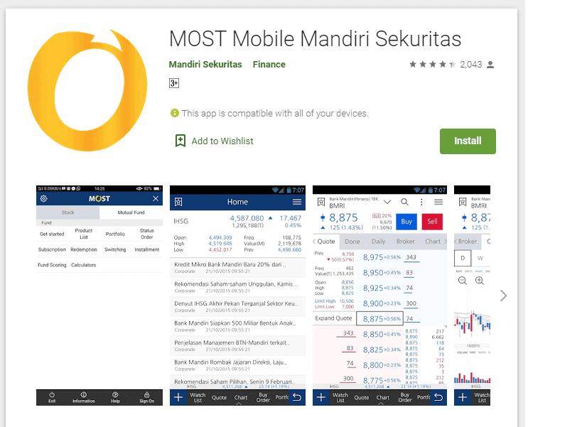 aplikasi saham android terbaik MOST