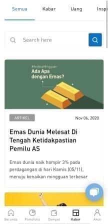 menu kabar di aplikasi Pluang