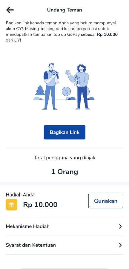 Bonus referral OY! Indonesia