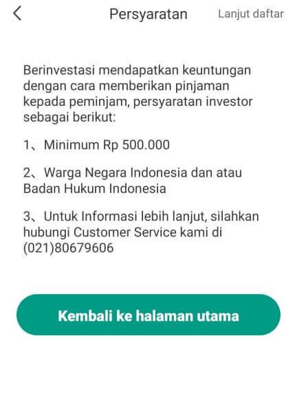 Menjadi pemberi pinjaman di aplikasi UKU