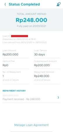 Riwayat pembayaran tagihan di TunaiKita