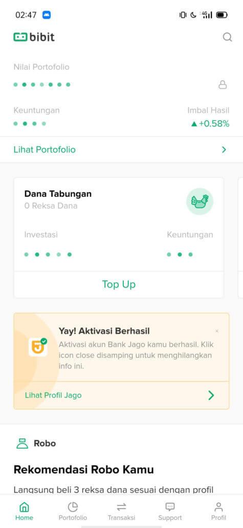 Cara Daftar Bank Jago Lebih Gampang lewat Aplikasi Bibit 1