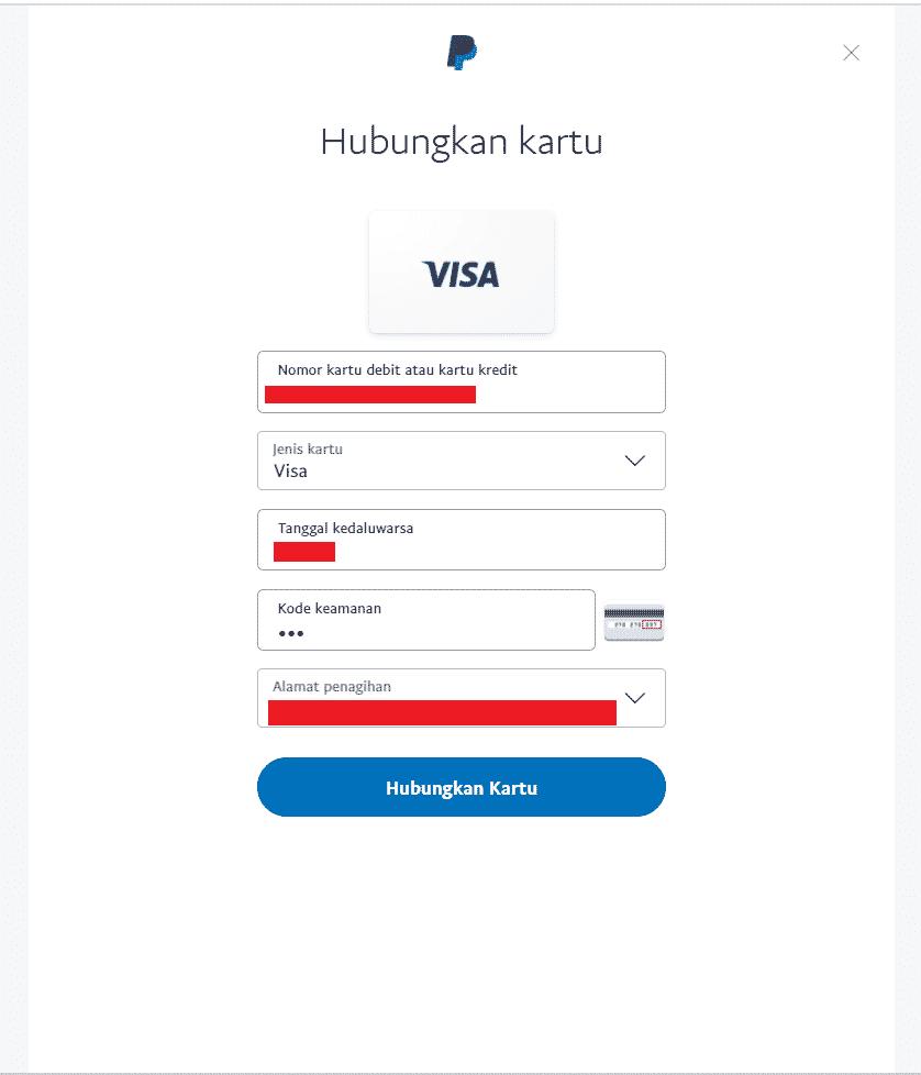 Cara verifikasi Paypal dengan kartu e-Card Jenius  langkah 5